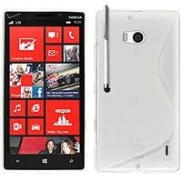 Nokia Lumia 930: Accessoire Housse Etui Pochette Coque S silicone gel + Stylet - BLANC