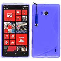 Nokia Lumia 930: Accessoire Housse Etui Pochette Coque S silicone gel + mini Stylet - BLEU