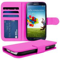 Samsung Galaxy S4 i9500/ i9505/ Value Edition I9515: Accessoire Etui portefeuille Livre Housse Coque Pochette cuir PU - ROSE