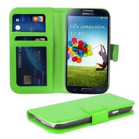 Samsung Galaxy S4 i9500/ i9505/ Value Edition I9515: Accessoire Etui portefeuille Livre Housse Coque Pochette cuir PU - VERT