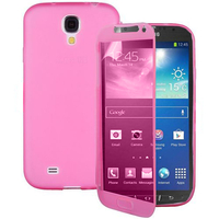 Samsung Galaxy S4 Active I9295/ I537 LTE: Accessoire Coque Etui Housse Pochette silicone gel Portefeuille Livre rabat - ROSE