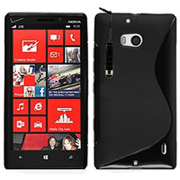 Nokia Lumia 930: Accessoire Housse Etui Pochette Coque S silicone gel + mini Stylet - NOIR