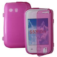 Samsung Galaxy Y Neo GT-S5360 S5369i: Accessoire Coque Etui Housse Pochette silicone gel Portefeuille Livre rabat - ROSE
