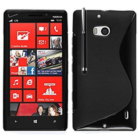 Nokia Lumia 930: Accessoire Housse Etui Pochette Coque S silicone gel + Stylet - NOIR
