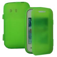 Samsung Galaxy Y Neo GT-S5360 S5369i: Accessoire Coque Etui Housse Pochette silicone gel Portefeuille Livre rabat - VERT