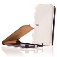 Samsung Wave Y S5380: Accessoire Housse coque etui cuir fine slim - BLANC
