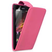Sony Xperia L S36h/C2105/C2104: Accessoire Etui Housse Coque Pochette simili cuir - ROSE
