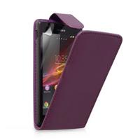 Sony Xperia L S36h/C2105/C2104: Accessoire Etui Housse Coque Pochette simili cuir - VIOLET