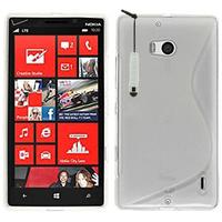 Nokia Lumia 930: Accessoire Housse Etui Pochette Coque S silicone gel + mini Stylet - TRANSPARENT