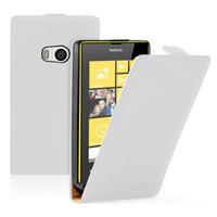 Nokia Lumia 930: Accessoire Housse coque etui cuir fine slim - BLANC