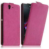 Sony Xperia Z L36h C6602 C6603: Accessoire Housse coque etui cuir fine slim - ROSE