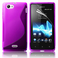 Sony Xperia J St26i: Accessoire Housse Etui Pochette Coque S silicone gel - VIOLET