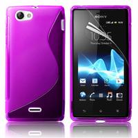 Sony Xperia J St26i: Accessoire Housse Etui Pochette Coque S silicone gel - VIOLET
