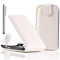 BlackBerry Bold Touch 9900/ Dakota/ Magnum/ Bold Touch 9930/ Montana: Accessoire Etui Housse Coque Pochette simili cuir + Stylet - BLANC