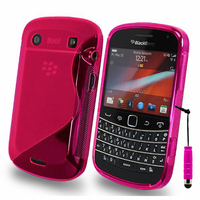 BlackBerry Bold Touch 9900/ Dakota/ Magnum/ Bold Touch 9930/ Montana: Accessoire Housse Etui Pochette Coque S silicone gel + mini Stylet - ROSE