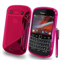 BlackBerry Bold Touch 9900/ Dakota/ Magnum/ Bold Touch 9930/ Montana: Accessoire Housse Etui Pochette Coque S silicone gel + Stylet - ROSE