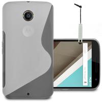 Motorola Nexus 6/ Nexus X: Accessoire Housse Etui Pochette Coque S silicone gel + mini Stylet - TRANSPARENT