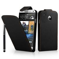 HTC One Mini M4/ 601/ 601e/ 601n/ 601s: Accessoire Etui Housse Coque Pochette simili cuir + Stylet - NOIR