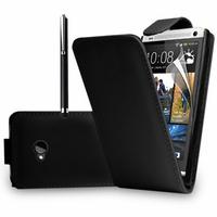 HTC One M7: Accessoire Etui Housse Coque Pochette simili cuir + Stylet - NOIR