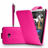 HTC One M7: Accessoire Etui Housse Coque Pochette simili cuir + Stylet - ROSE