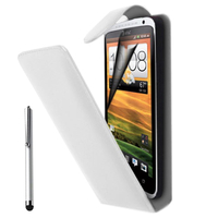 HTC One S/ Special Edition: Accessoire Etui Housse Coque Pochette simili cuir + Stylet - BLANC