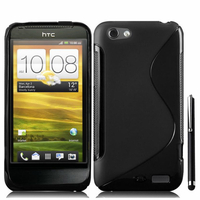 HTC One S/ Special Edition: Accessoire Housse Etui Pochette Coque S silicone gel + Stylet - NOIR