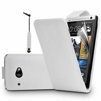 HTC Desire 601 Zara/ Dual Sim: Accessoire Etui Housse Coque Pochette simili cuir + mini Stylet - BLANC