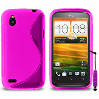 HTC Desire X T328E/ G7X: Accessoire Housse Etui Pochette Coque S silicone gel + mini Stylet - VIOLET