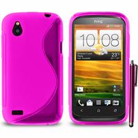 HTC Desire X T328E/ G7X: Accessoire Housse Etui Pochette Coque S silicone gel + Stylet - VIOLET