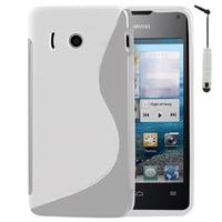 Huawei Ascend Y300: Accessoire Housse Etui Pochette Coque S silicone gel + mini Stylet - BLANC