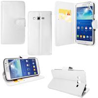 Samsung Galaxy Core Plus G3500/ Trend 3 G3502: Accessoire Etui portefeuille Livre Housse Coque Pochette support vidéo cuir PU - BLANC