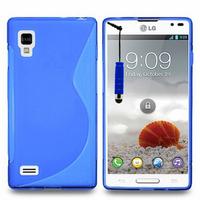 LG Optimus L9 P760/ P765/ P768: Accessoire Housse Etui Pochette Coque S silicone gel + mini Stylet - BLEU