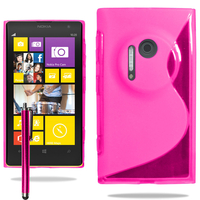 Nokia Lumia 1020: Accessoire Housse Etui Pochette Coque S silicone gel + Stylet - ROSE