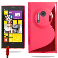 Nokia Lumia 1020: Accessoire Housse Etui Pochette Coque S silicone gel + mini Stylet - ROUGE