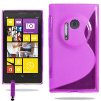 Nokia Lumia 1020: Accessoire Housse Etui Pochette Coque S silicone gel + mini Stylet - VIOLET