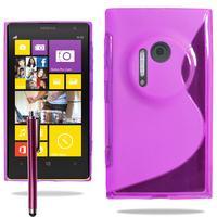 Nokia Lumia 1020: Accessoire Housse Etui Pochette Coque S silicone gel + Stylet - VIOLET