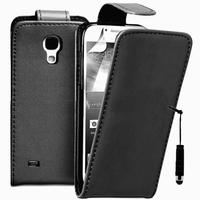 Samsung Galaxy Trend 2 II S7570/ S7572/ S7568/ S7898/ i699: Accessoire Etui Housse Coque Pochette simili cuir + mini Stylet - NOIR
