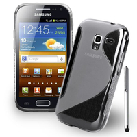 Samsung Galaxy Ace 2 i8160: Accessoire Housse Etui Pochette Coque S silicone gel + Stylet - TRANSPARENT