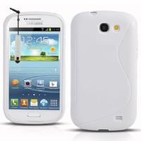 Samsung Galaxy Express I8730: Accessoire Housse Etui Pochette Coque S silicone gel + mini Stylet - BLANC