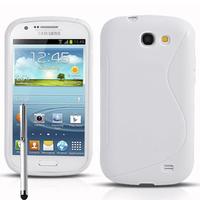 Samsung Galaxy Express I8730: Accessoire Housse Etui Pochette Coque S silicone gel + Stylet - BLANC