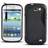 Samsung Galaxy Express I8730: Accessoire Housse Etui Pochette Coque S silicone gel + mini Stylet - NOIR