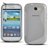 Samsung Galaxy Express I8730: Accessoire Housse Etui Pochette Coque S silicone gel + mini Stylet - TRANSPARENT
