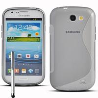 Samsung Galaxy Express I8730: Accessoire Housse Etui Pochette Coque S silicone gel + Stylet - TRANSPARENT