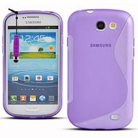 Samsung Galaxy Express I8730: Accessoire Housse Etui Pochette Coque S silicone gel + mini Stylet - VIOLET