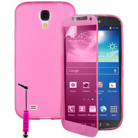 Samsung Galaxy S4 Active I9295/ I537 LTE: Accessoire Coque Etui Housse Pochette silicone gel Portefeuille Livre rabat + mini Stylet - ROSE