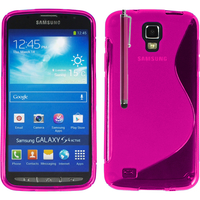 Samsung Galaxy S4 Active I9295/ I537 LTE: Accessoire Housse Etui Pochette Coque S silicone gel + Stylet - ROSE