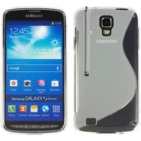 Samsung Galaxy S4 Active I9295/ I537 LTE: Accessoire Housse Etui Pochette Coque S silicone gel + Stylet - TRANSPARENT