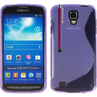 Samsung Galaxy S4 Active I9295/ I537 LTE: Accessoire Housse Etui Pochette Coque S silicone gel + Stylet - VIOLET