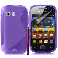 Samsung Galaxy Y Neo GT-S5360 S5369i: Accessoire Housse Etui Pochette Coque S silicone gel + Stylet - VIOLET