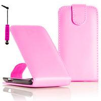 Samsung Wave Y S5380: Accessoire Etui Housse Coque Pochette simili cuir + mini Stylet - ROSE-PALE